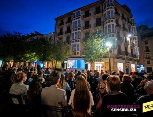 Proyección Korterraza Sensibiliza en Vitoria-Gasteiz